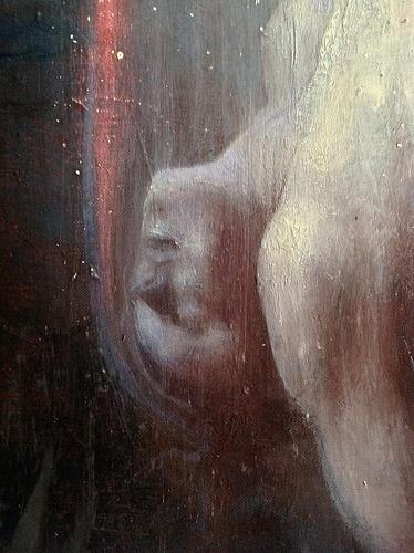 Rapture ( Ganimede) detail.  2012 oil on linen cm 180 x 230