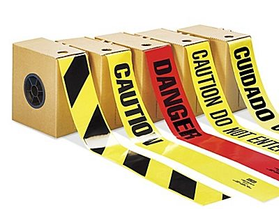 Barricade Tape, Hazard Tape in Stock - ULINE.ca