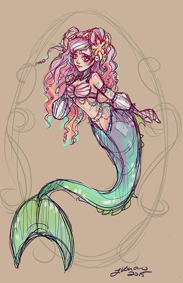 The Little Mermaid Sketch by NoFlutter.deviantart.com on @DeviantArt