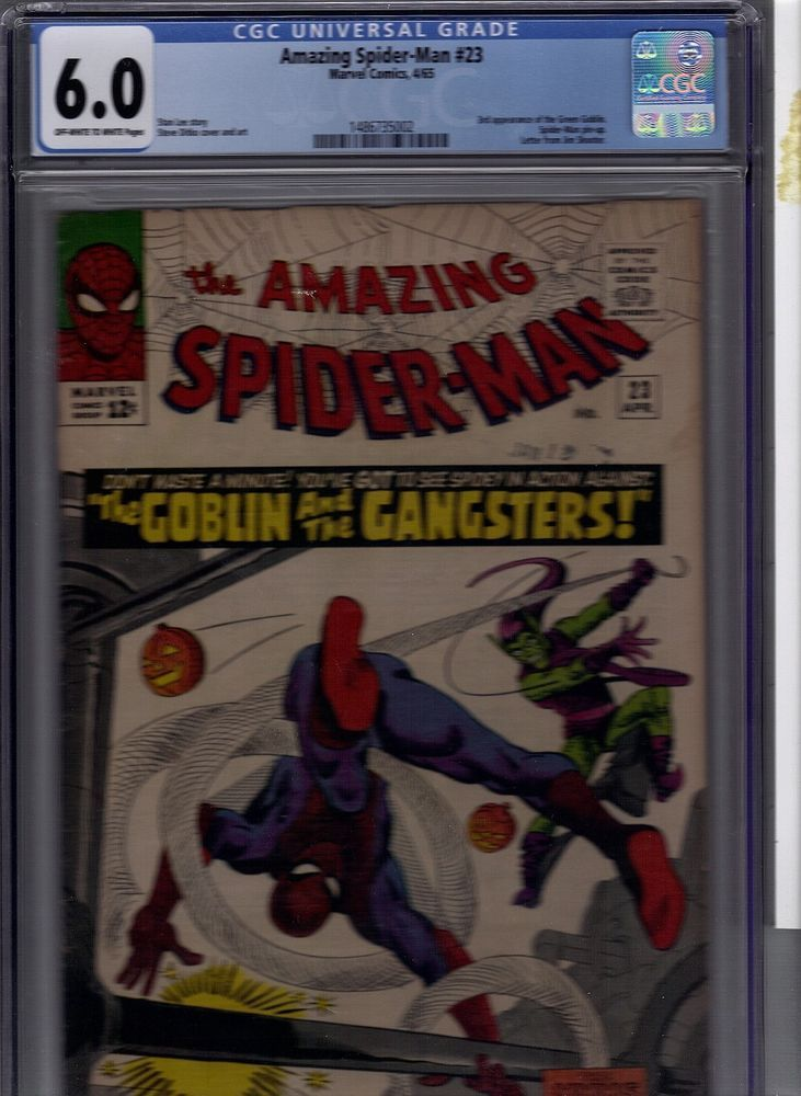 AMAZING SPIDER-MAN #23  CGC 6.0  3RD APP GREEN GOBLIN   HOT FINE KEY ISSUE XMAS