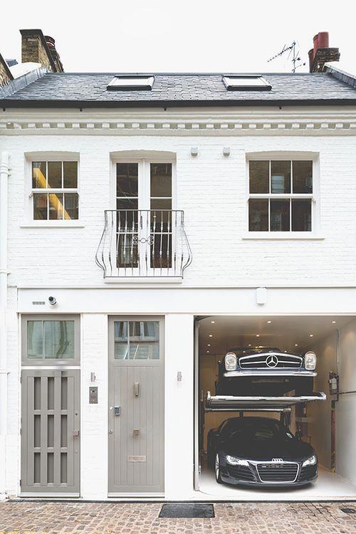 British House// White, Grey, Black & Olive Green