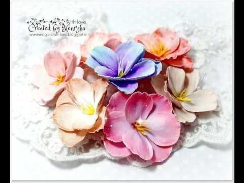 Colouring of foamiran flowers with different media Video Tutorial - YouTube