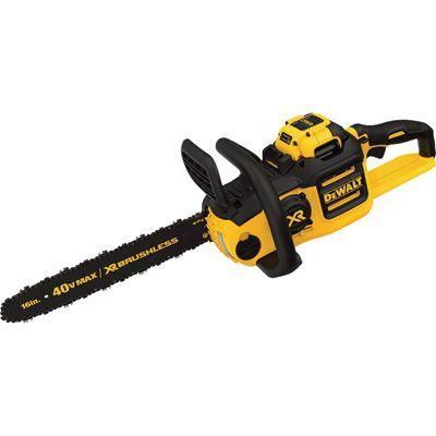 DEWALT 40V Max Cordless Chainsaw — 16in. Bar, 6.0Ah Battery, Model# DCCS690H1