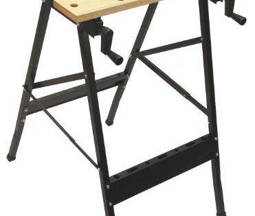 Cogex 66446 Etabli pliant portable: Etabli pliant portable 760 x 520 x 630 mm Plan de travail en bois, pieds en métal support gradué. Cet…
