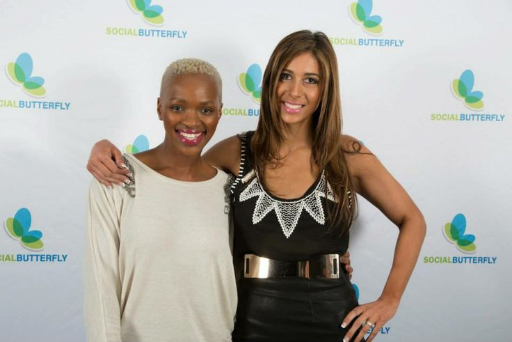 www.celebritygifting.co.za #owner with the beautiful #fixmoeti, South African #dj from #5fm, at an exclusive #celebritygifting and #socialbutterfly event