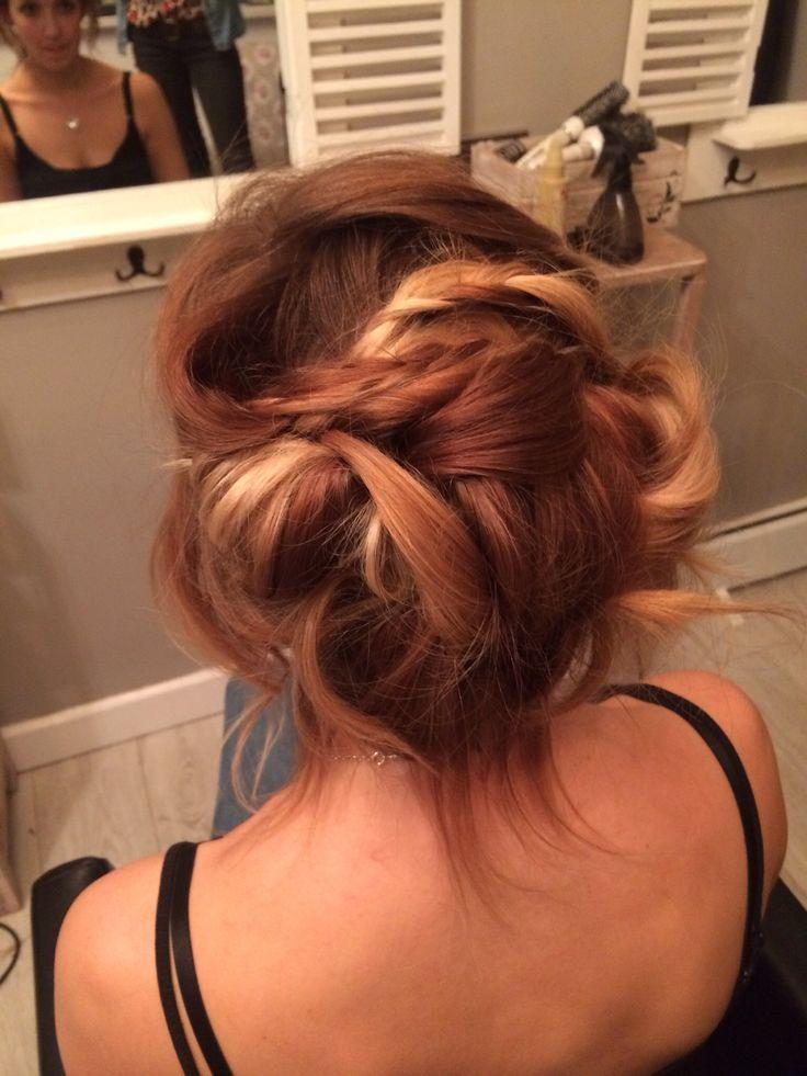 Boho bridal hair up