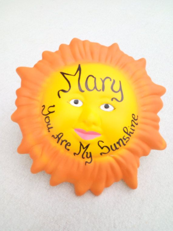 Door Plaque Personalized You Are My Sunshine Sign - Name Sign - Ceramic Sunshine - Name Plaque - Message Board - Kids Gift - Children Decor