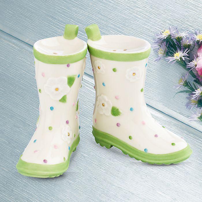 Garden Boots Salt & Pepper Shaker Set