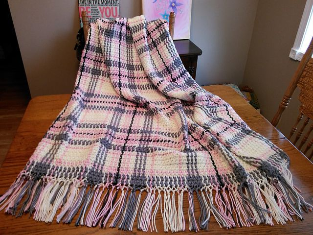 Ravelry: Woven Scotch Plaid Afghan pattern by American ...