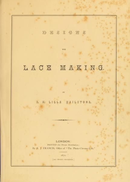 Designs for Lace Making