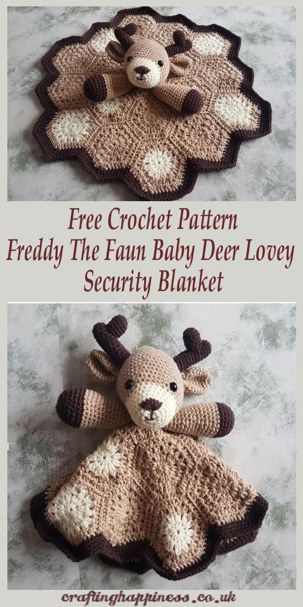 Crochet Pattern Freddy The Fawn Baby Deer Lovey Security Blanket