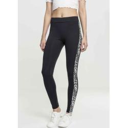 Urban Classics Damen Leggings Sporthose Fitness Ladies Side Stripe Zootb2637 blk…