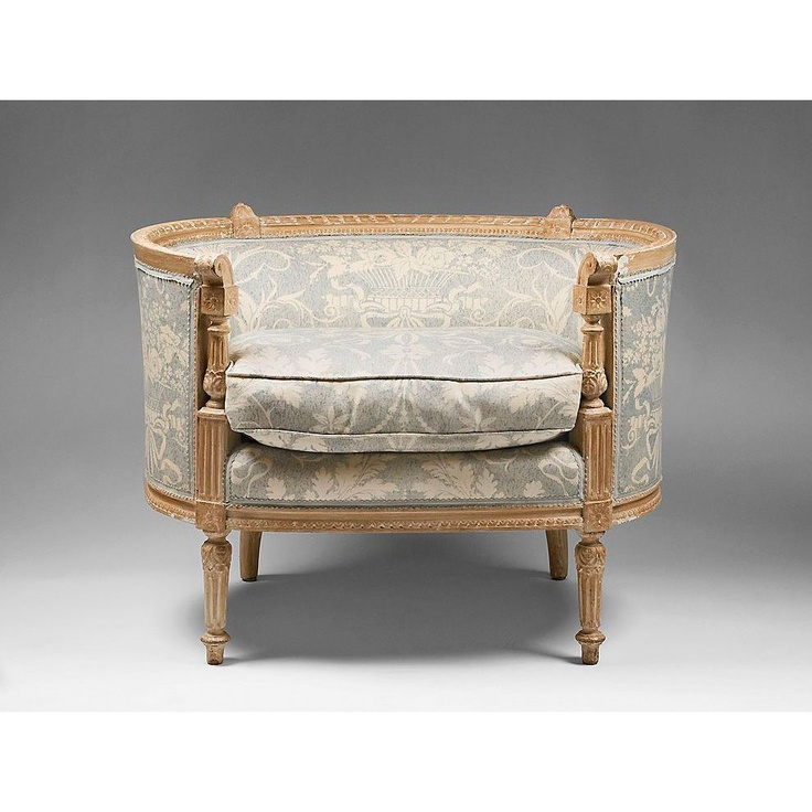 18th Century Louis XVI Painted Beechwood Bergére Chair