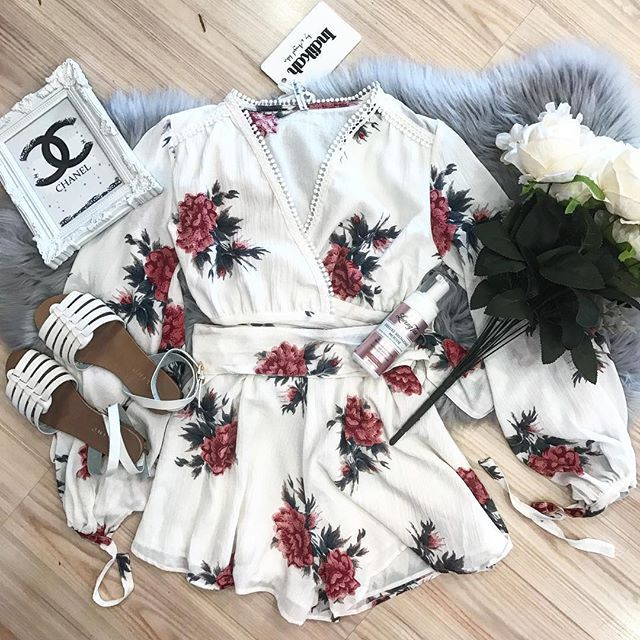 Playsuit 😍 $59  Billini sandals $20 Lovingtan in med $34.95 #boutique #playsuit #tanning #lovingtan #makeup #follow4follow #follow #followforfollow #followers #picoftheday #floral #fur #winter #shop #onlineshopping #billini #white #chanel #vintage #photography #nudes #flatlay #pretty #girly #girl
