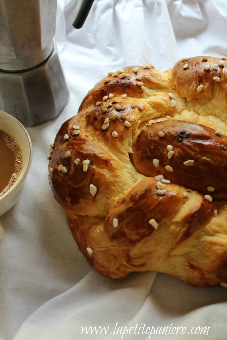 Braided brioche bread