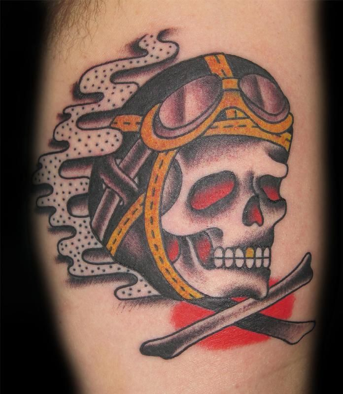 60 best images about biker skull on pinterest retro for Traditional motorcycle tattoo