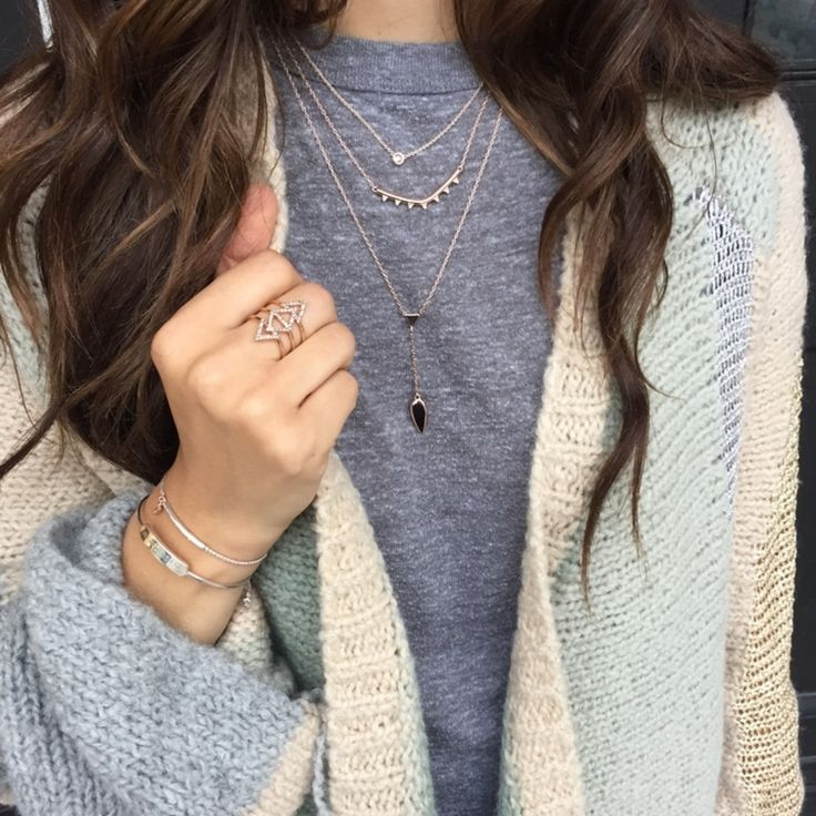 We <3 layers... Layer up your delicate necklaces, bracelets and add a cozy layer...