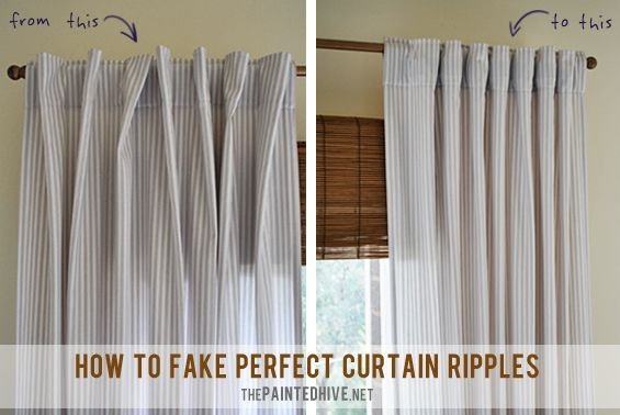 How To Fake Perfect Curtain Ripples | The Painted Hive