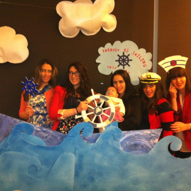 Baby Shower Ideas Photo Booth ~ Fun photobooth with nautical props waves and a boat