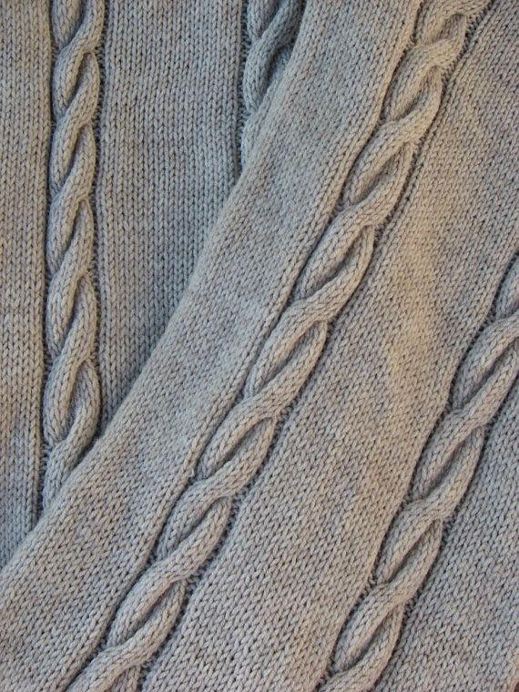 Handknit Womens Wool Beige Snood Scarf. $63.00, via Etsy.
