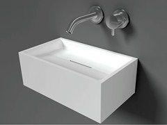 - Lave-mains rectangulaire suspendu en Solid Surface® COCOON SAN JORDI I - Cocoon