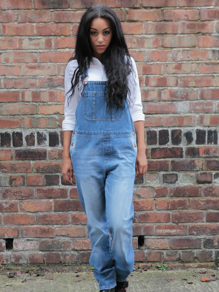 Uskees Ladies denim dungarees - available size UK 8-18 from Dungarees-Online.com #dungarees #overalls #plussize