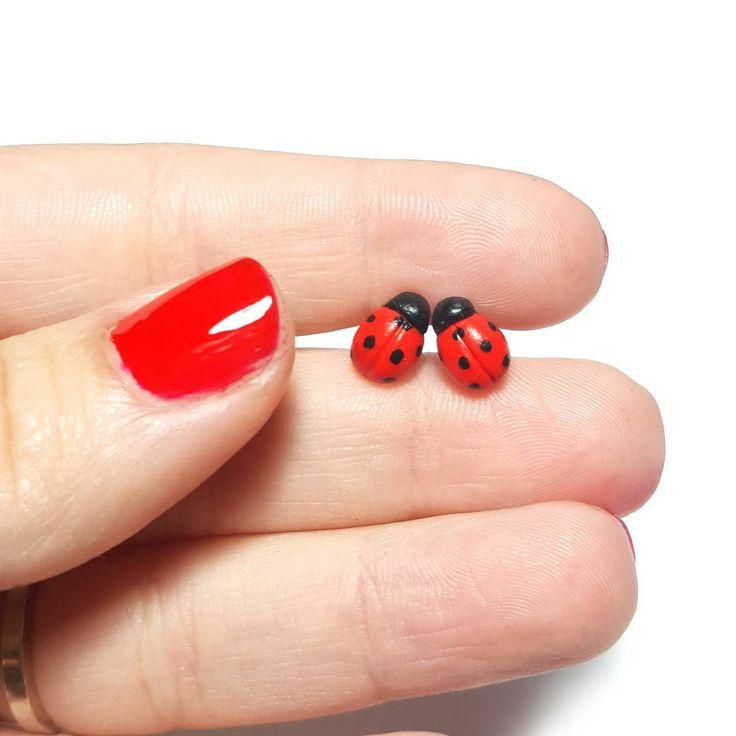 Ladybug Stud Earrings, Polymer Clay Earrings, Polymer Clay Ladybug, Easter gifts, Easter Earrings, Ladybug jewelry, Ladybird, Red Studs #myfimo #bystellakyriakou #etsy #polymerclayjewelry #handmade #handmadejewelry #jewelry #earrings #ladybugstud #studearrings #polymerclayladybug #eastergifts #easterearrings #ladybugjewelry #ladybird https://etsy.me/2JsNwgj