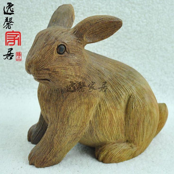African rabbit art rosewood zodiac wood