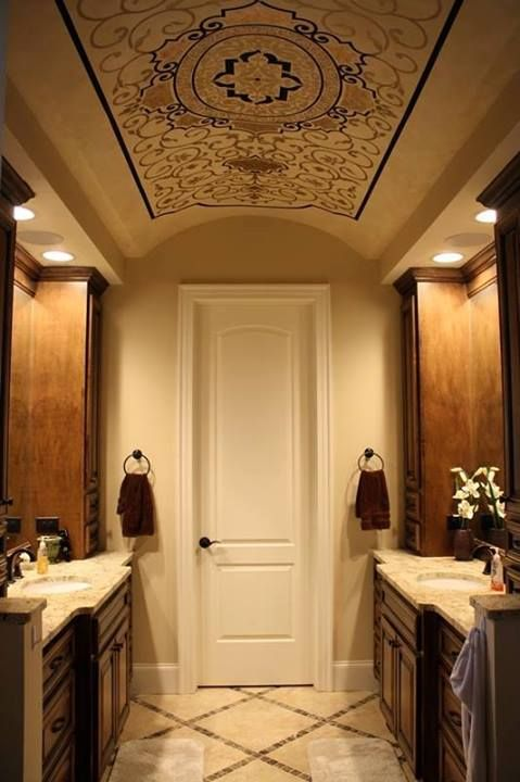 199 best stenciled and painted ceilings images on for Custom ceiling designs