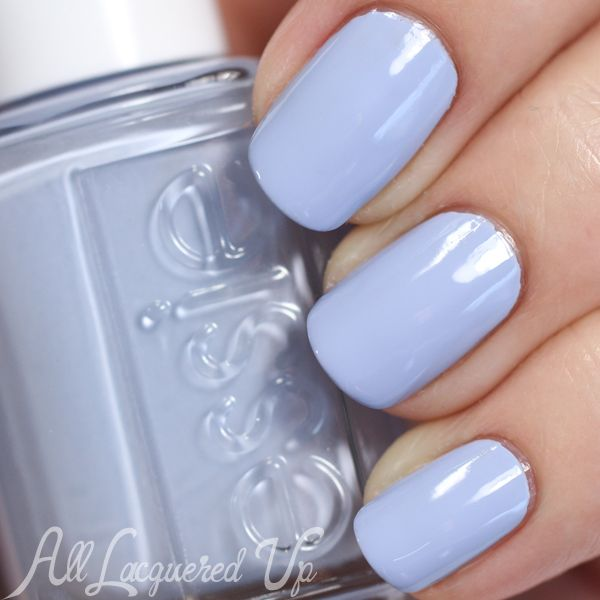 Essie Summer 2015 Collection Swatches and Review Essie Salt Water Happy is a sand-washed, pale denim creme. It's muted grey undertone gives it a beach-y feel. And, what I'm pleased to find, is that I own nothing like it. So, it's a unique color with stellar formula. Win-win! Zoya Kristen is darker and more greyed. It feels like a fall blue next to Salt Water Happy. OPI You're Such a Buda-pest is more purple and Orly Pixie Dust is in a league of its own.