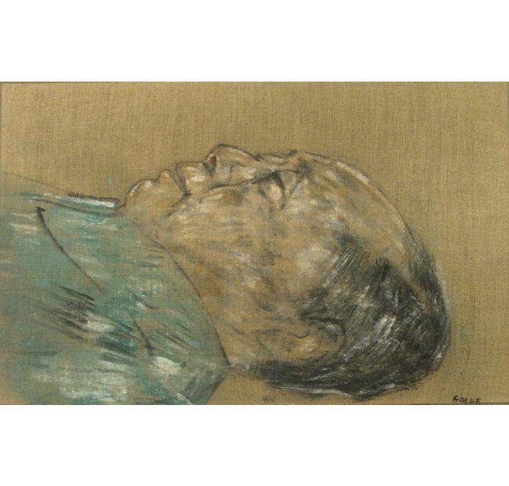 LEON GOLUB Mao Tse Tung (In Sarcophagus - 1977), 1978 Acrylic paint on canvas 14 × 22 in 35.5 × 56 cm