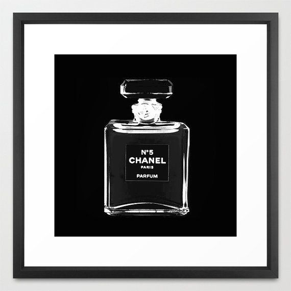 Chanel Print Chanel Poster Black and White by BellaBellaShoppe