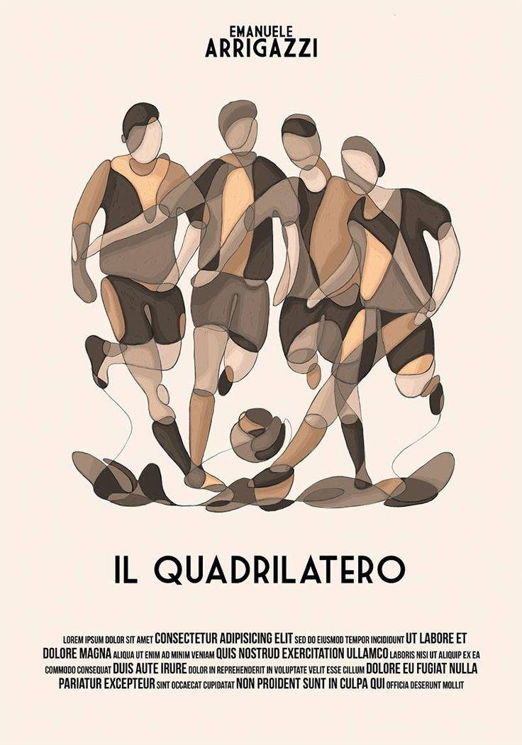 """10° Classificato Contest """"Una Locandina per il Quadrilatero""""  Artwork by Andrea Dalla Barba."""