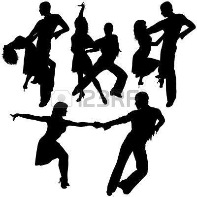 Latino Dance Silhouetten 15 - Gedetailleerde Illustraties Als Vector Royalty Vrije Cliparts, Vectoren, En Stock Illustratie. Pic 4603540.