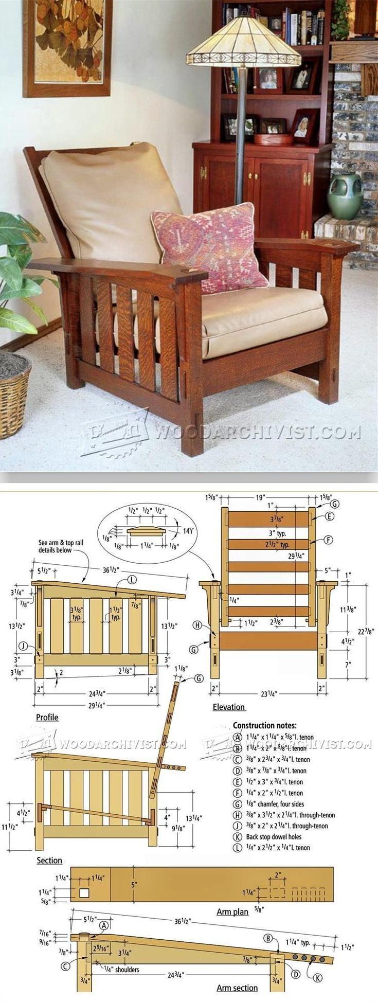 Morris chair plans outdoor - Morris Chair Plans Furniture Plans And Projects Woodarchivist Com