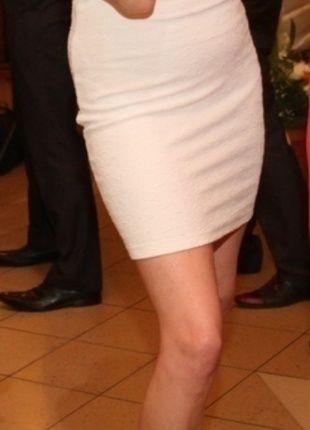 Kup mój przedmiot na #vintedpl http://www.vinted.pl/damska-odziez/krotkie-sukienki/14758944-biala-wytlaczana-sukienka-mohito