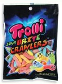 Trolli Sour gummi worms. This is a 5oz bag full of fun sour gummy worms.Bags Worms, Favorite Things, Sour Gummy Worms, Brite Crawler, Favorite Candies, Sour Brite, Products, Trolly Sour, Food Drinks