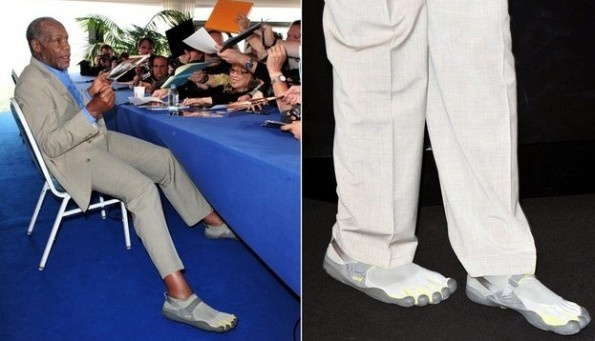 Danny Glover pulls of FiveFingers in a suit. Can you do ...