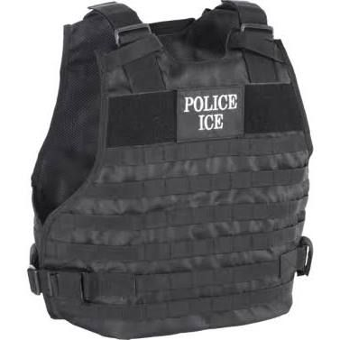 Voodoo Tactical Police Ice Plate Carrier Vest Black--L/XL