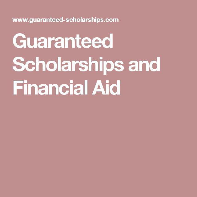 Guaranteed Scholarships and Financial Aid
