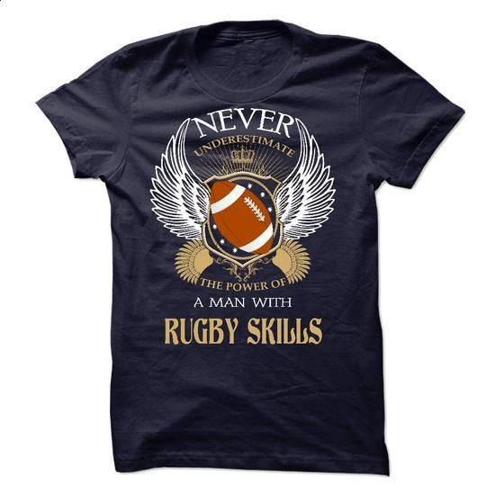 Never underestimate the power of a woman with rugby skills - #crewneck sweatshirts #cool tshirt designs. GET YOURS => https://www.sunfrog.com/LifeStyle/Never-underestimate-the-power-of-a-woman-with-rugby-skills.html?60505