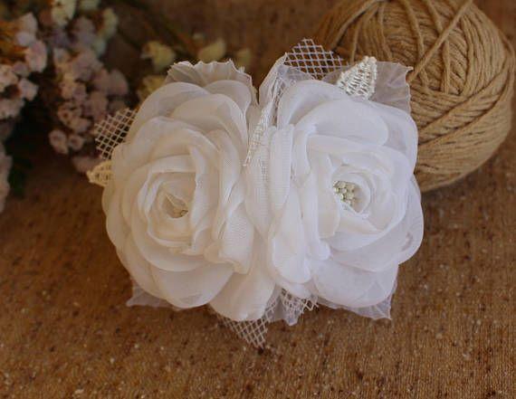 Bridal Flower Hair Comb,White Bridal Headpiece,Wedding Hairpiece,Wedding Flower Hair Comb,Girl Woman Flower Hair Clip,bridal fascinator