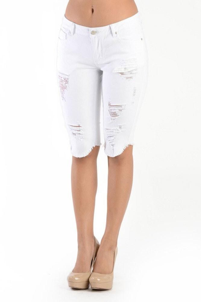 Women's Cut-Off Skinny Shorts RSS383 - C7D