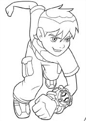 Free Ben 10 coloring book pages