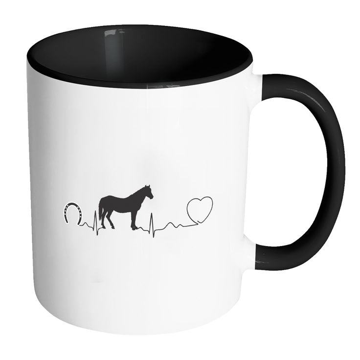 Large Animal Vet Inner Color Mug 11oz - Horse pulse