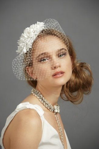I want a birdcage veil like this! :]