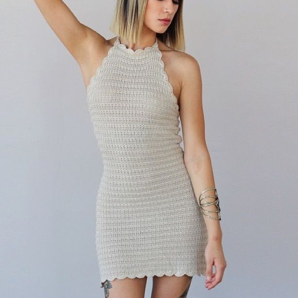 Dresses - Crochet Halter Top Dress                                                                                                                                                                                 More
