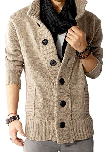 Mright Men's thick collar cardigan sweater knit cardigan sweater jacket(Khaki,US M) Mright http://smile.amazon.com/dp/B00MPFCIPI/ref=cm_sw_r_pi_dp_s4uEub000JZR1