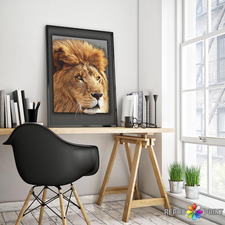 Lion Print, Safari Baby Shower Animal, Nursery Decor, Boys Room Wall Art, Printable Large Poster, Digital Download, Kids Room Decor