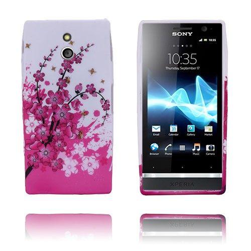 Symphony (Vaaleanpunainen) Sony Xperia P Suojakuori